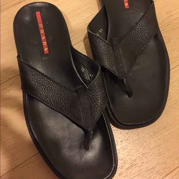 4f4c6f5e50ea Men s Prada thong sandals